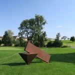 """Look Alive I"", 2008, Cortenstahl, Höhe: 160"