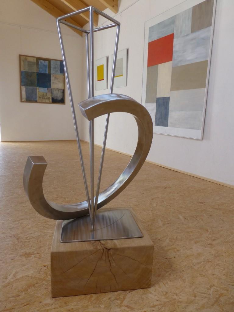 Circle of live / 2014, Edelstahl, Höhe: 85 cm o. S.