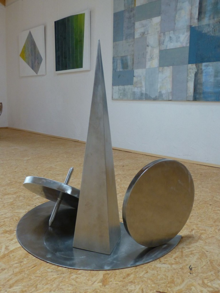 Circle of live II / 2014, Edelstahl, Höhe:85 cm
