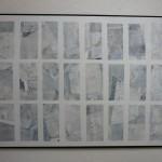"""""""Weiss"""" 2011, Acryl u. verschiedene Papiere, 100 x 140 cm, Privatbesitz"""