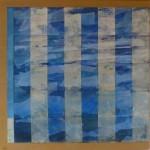 Seestück / 2014, Acryl und Papier auf Lw., 100 x 100 cm