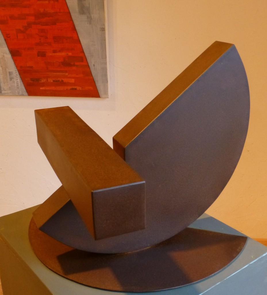 Schwerpunkt II / 2014, Cortenstahl, Höhe:38 cm, Privatbesitz