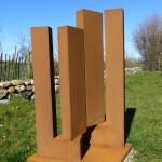 Dual /2015, Corten - Stahl, Höhe: 108 cm, Privatsammlung