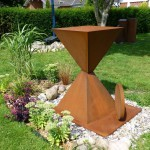 Just in time /2015, Corten-Stahl, Höhe: 126 cm
