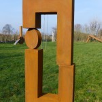 The dark side of the moon /2016 Corten-Stahl Höhe: 70 cm