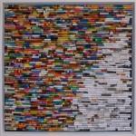 3/2016, Papiercollage, 60x60 cm, Privatbesitz cm