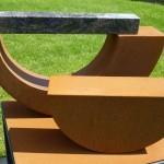 Schwerpunkt IV /2015 Corten-Stahl und Granit 48x80x50 cm