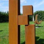 Counter balance I /2016, Corten-Stahl Höhe: 210 cm