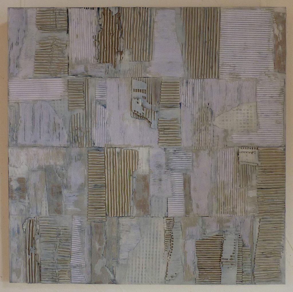 6 /2017 Wellpappe u. Acryl auf Lw. 80x80 cm