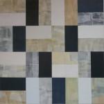 """""""Evening summer walk"""", 2010, Acryl u. versch. Papiere auf Lwd., 140 x 140 cm, Privatbesitz"""