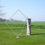 "Drehung"", 2007, Granit und Edelstahl, Höhe 250 cm"