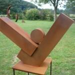 """Gewichtung"""", 2011, Cortenstahl, Höhe: 60 cm, Privatsammlung"""