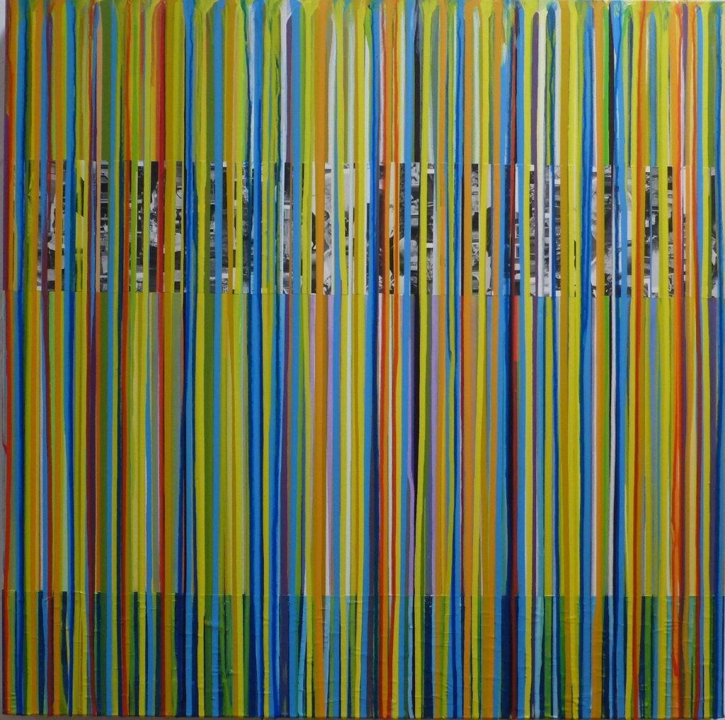 März I /2018 Acryl und Papiercollage 80x80 cm