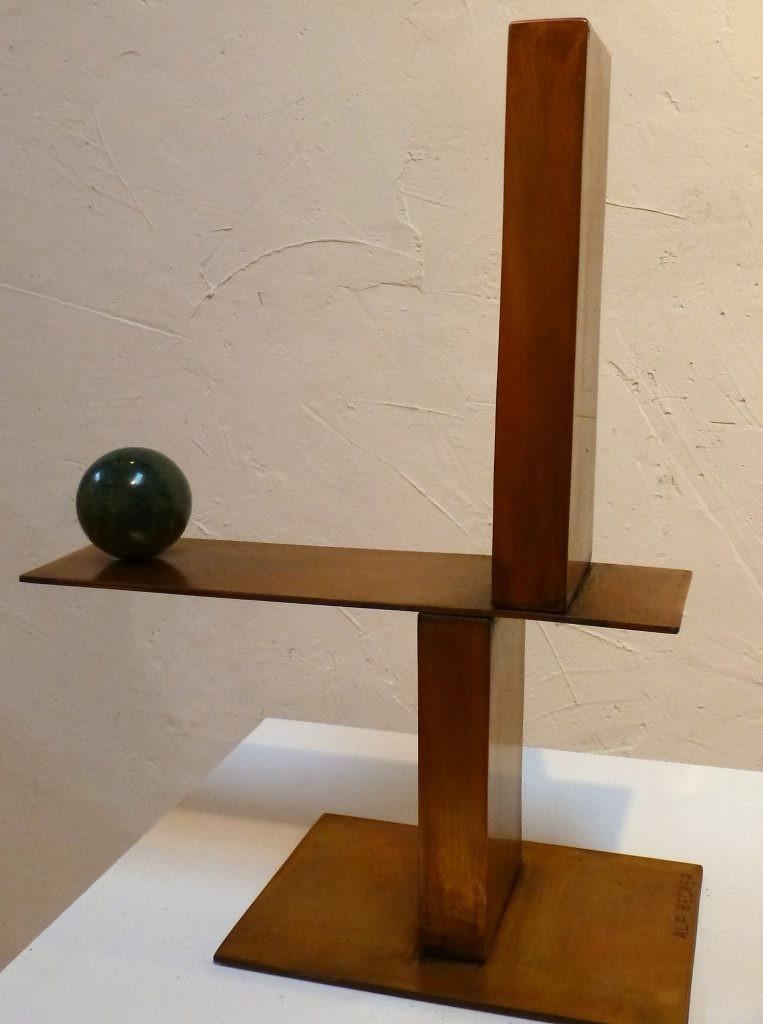 Sensibles Gleichgewicht /2018, Bronze u. Granit