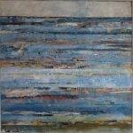 Seestück III /2019 Acryl u. Collage 100x100 cm