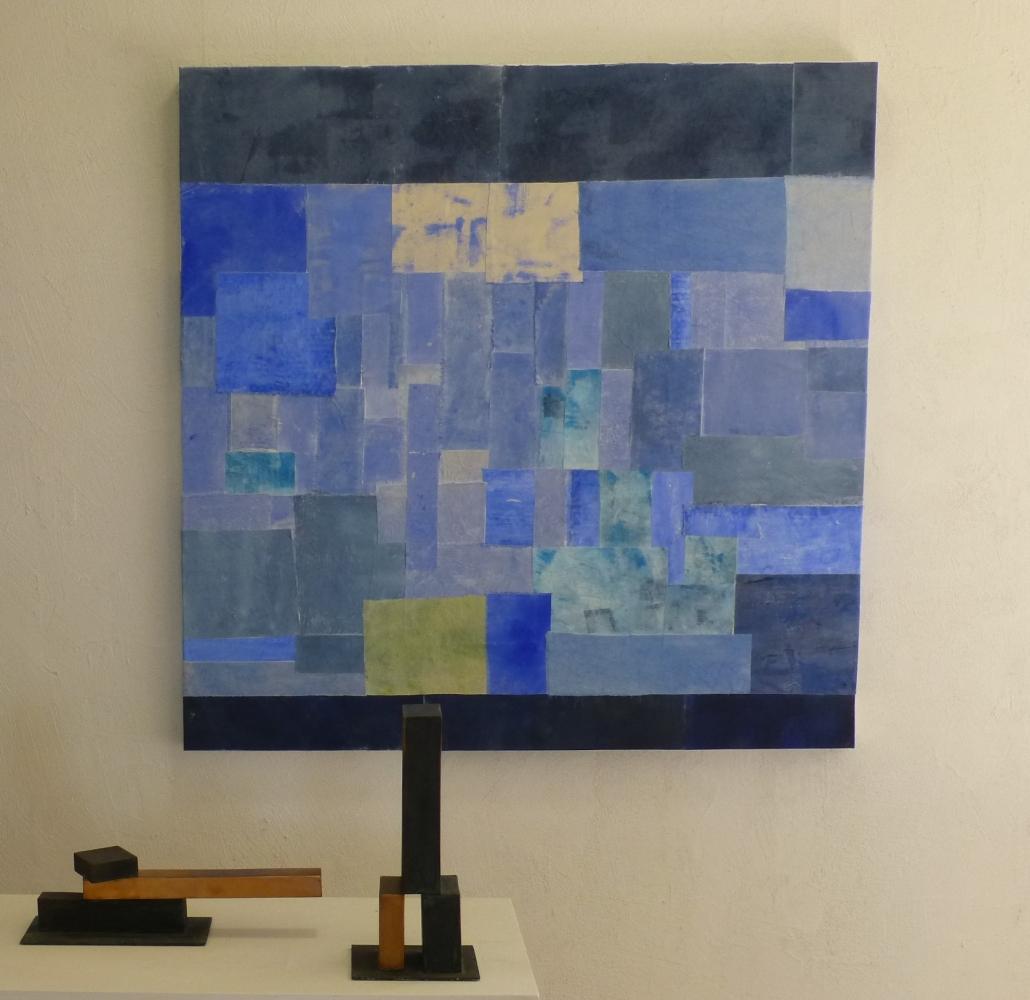 Seestück IV /2021, 120x120 cm